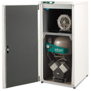 DUO 2V - компрессор с аспирационной системой в звукоизоляционном кожухе