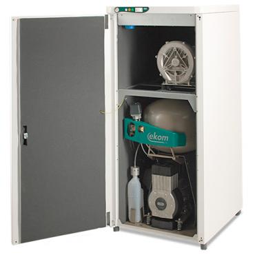 DUO - компрессор с аспирационной системой в звукоизоляционном кожухе