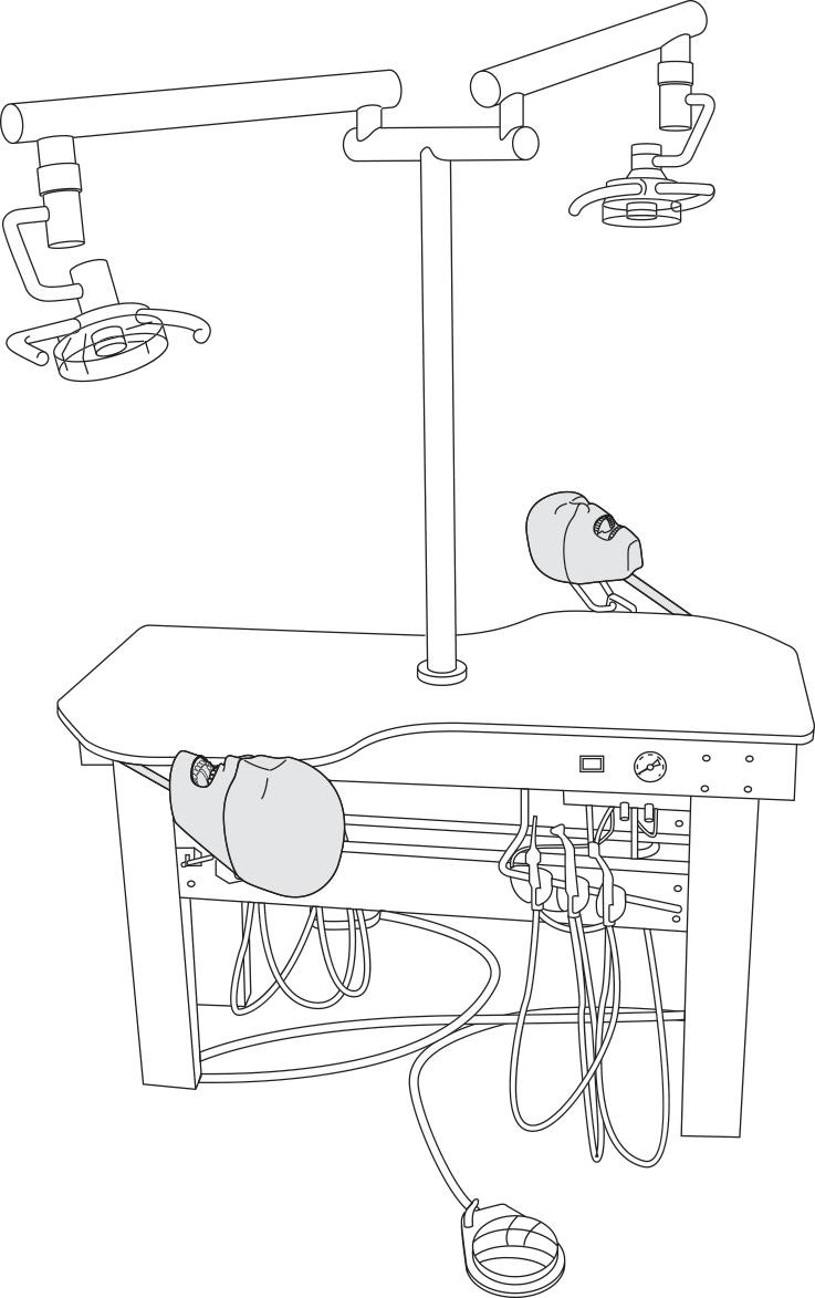 Тренажёр стоматологический - рабочее место 3